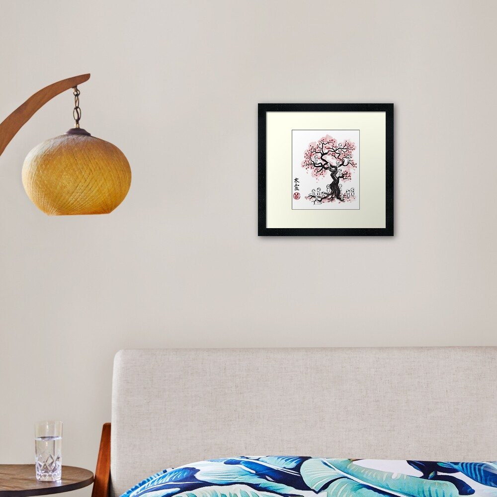 Sakura Tree Template Framed Art Print