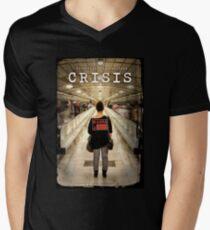CRISIS Teaser Poster (Versión Metro) Camiseta para hombre de cuello en v