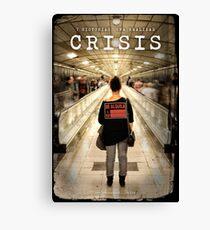 CRISIS Teaser Poster (Versión Metro) Lienzo