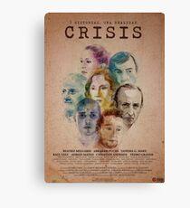 Cartel oficial de CRISIS Lienzo
