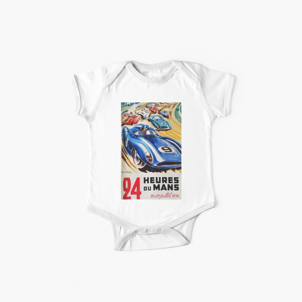 Le Mans Poster, Le Mans T-Shirt, 1956, Vintage Poster, Le Mans Aufkleber Baby Bodys