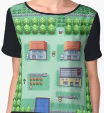 Dreams of Pallet Town (Leaf) Chiffon Top