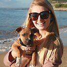 20. Bree & her Staffy Puppy by Cathie Brooker