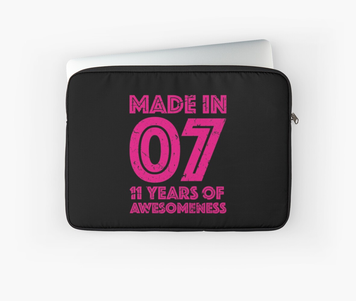11th Birthday Gift Kids Age 11 Year Old Girl Girls Laptop Sleeve By