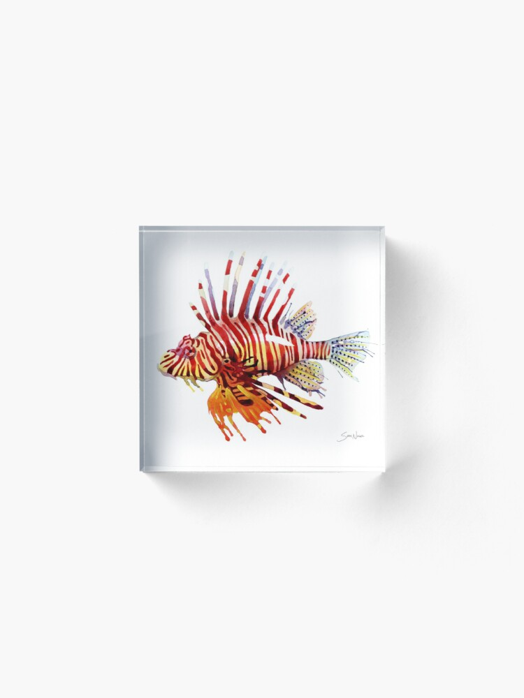 Alternate view of Lionfish Acrylic Block
