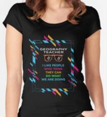 GEOGRAPHY TEACHER Women's Fitted Scoop T-Shirt