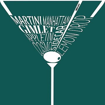Martini Glass (White Text) by SeenCity