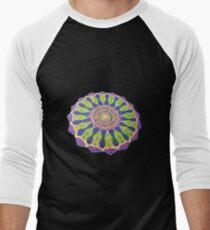 Spiritual Traditional Mandala Folk Art Men's Baseball ¾ T-Shirt