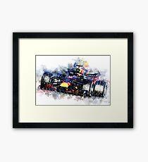 Daniel Ricciardo F1 2018 Framed Print