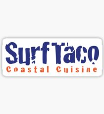 Surf Taco Costal Cuisine Sticker