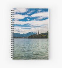 Panorama of Bled (Slovenja) Spiral Notebook