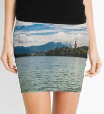 Panorama of Bled (Slovenja) Mini Skirt