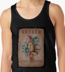 Cartel CRISIS Borde Negro Camisetas de tirantes para hombre