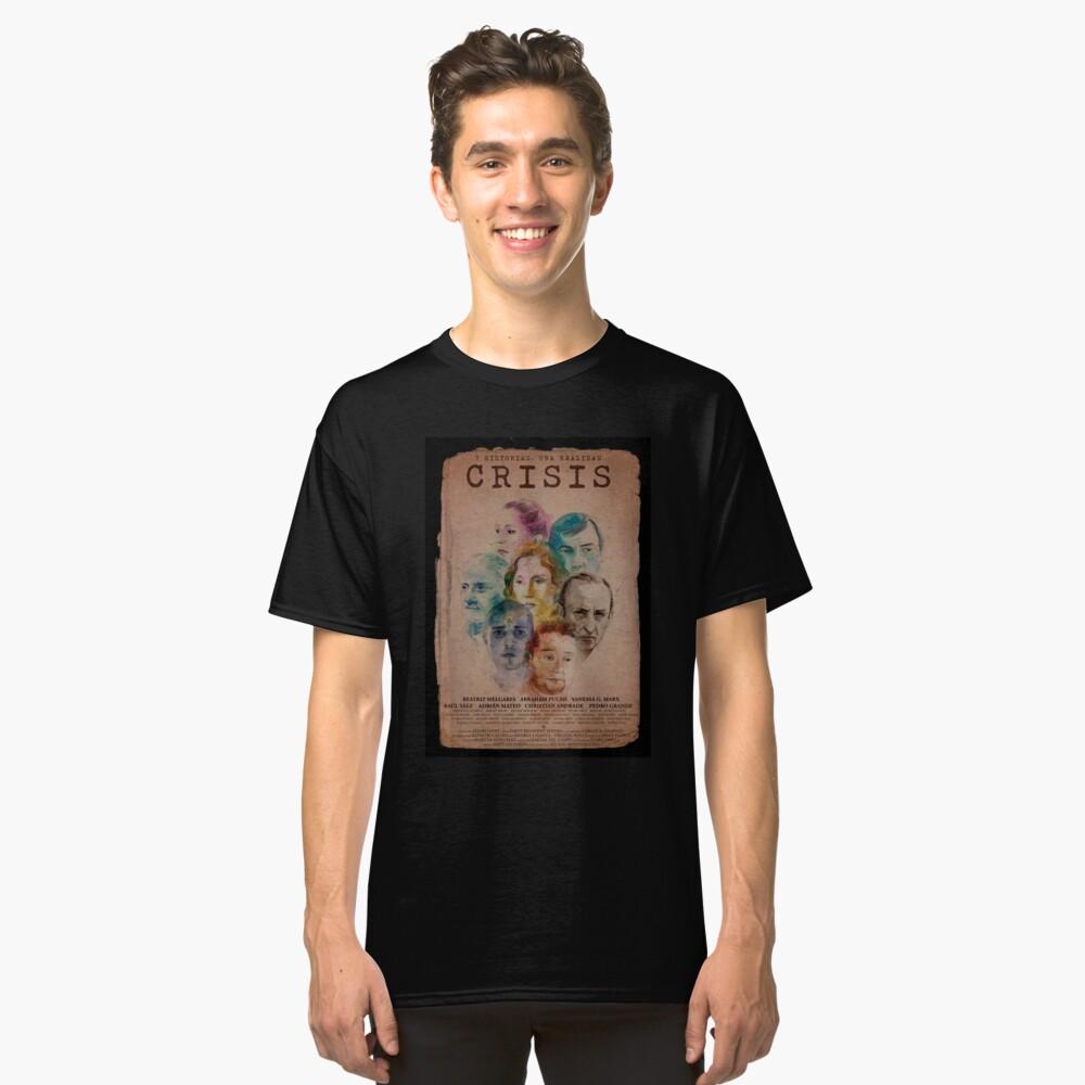 Camiseta clásicaCartel CRISIS Borde Negro Delante
