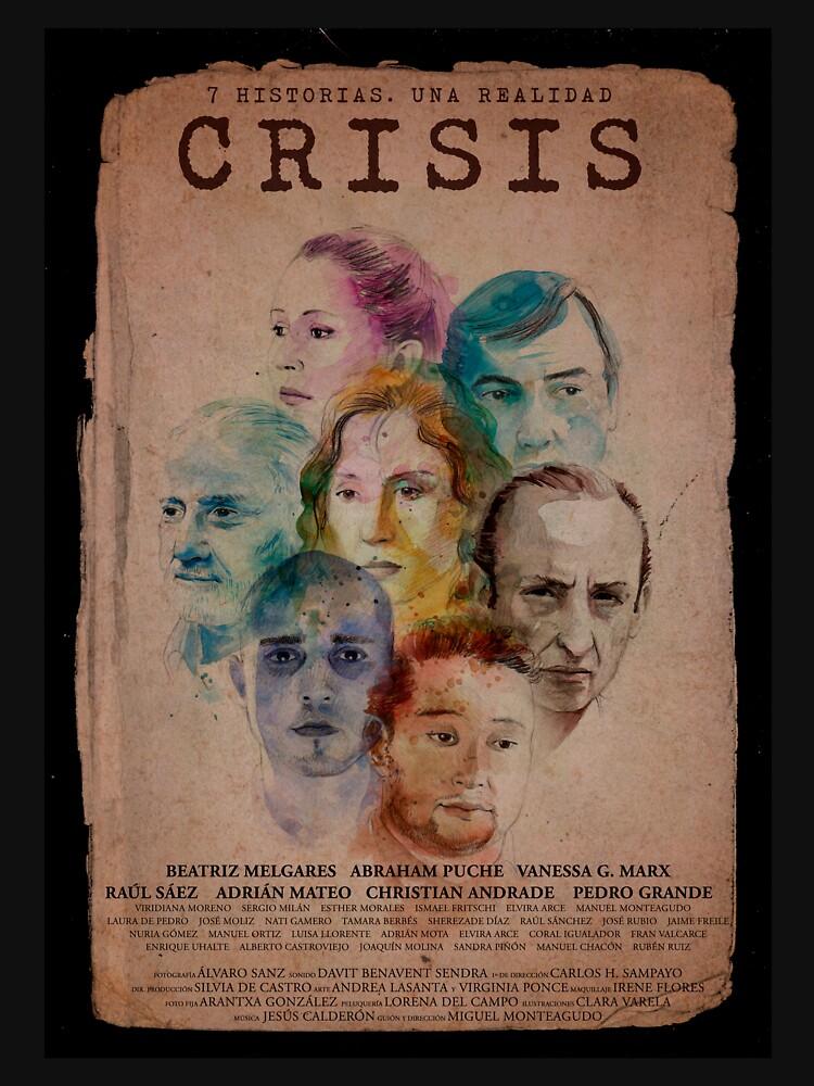 Cartel CRISIS Borde Negro de Crisislapeli