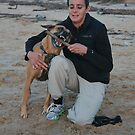 26. Kellie & her Ridgeback Cross Oli by Cathie Brooker