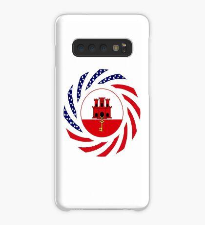 Gibraltarian American Multinational Patriot Flag Series Case/Skin for Samsung Galaxy