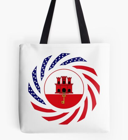 Gibraltarian American Multinational Patriot Flag Series Tote Bag