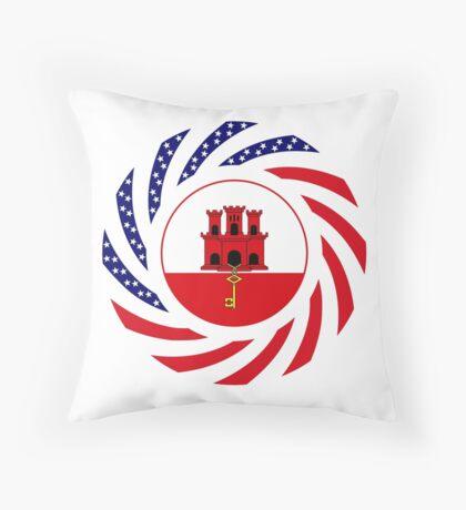 Gibraltarian American Multinational Patriot Flag Series Throw Pillow