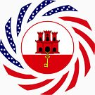 Gibraltarian American Multinational Patriot Flag Series by Carbon-Fibre Media