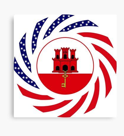 Gibraltarian American Multinational Patriot Flag Series Canvas Print