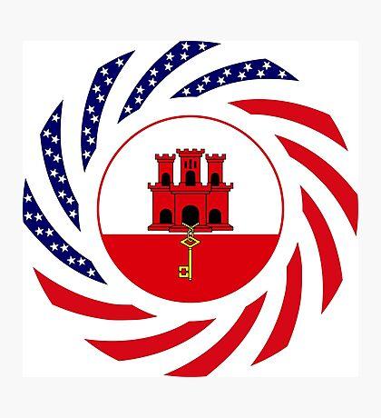 Gibraltarian American Multinational Patriot Flag Series Photographic Print