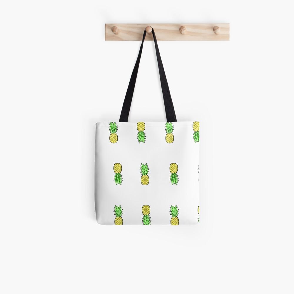 viele kleine Ananas im Stil Stofftasche