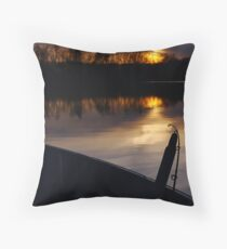 Sunset on the lake Throw Pillow