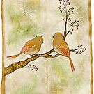 Birds on Berry Treee -wabi sabi- by naokosstoop