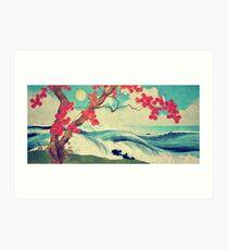Lámina artística Despertar al salvaje y hermoso océano de Dhin