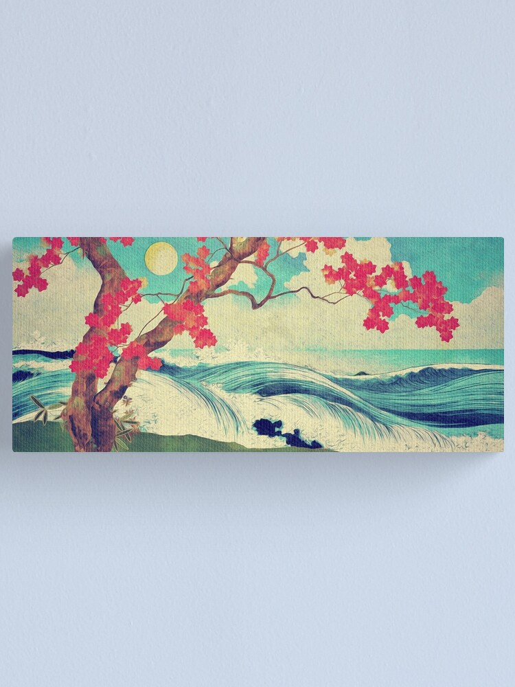 Alternate view of Waking to the Wild and Beautiful Ocean of Dhin Canvas Print