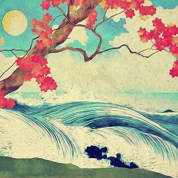 Aufwachen zum wilden und schönen Ozean von Dhin von Kijiermono
