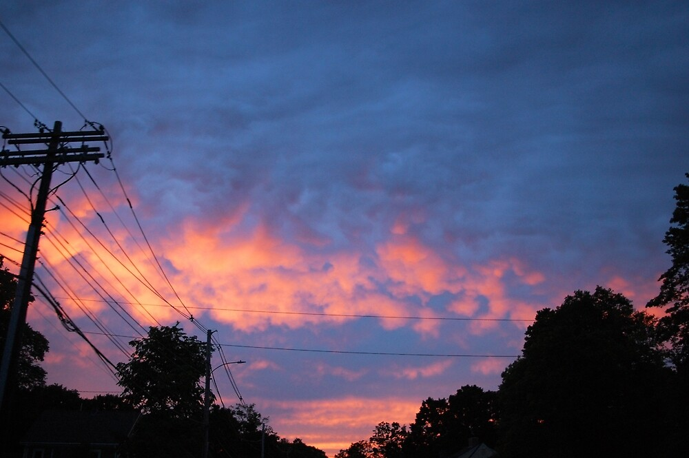 Telefonkabel Sonnenuntergang\