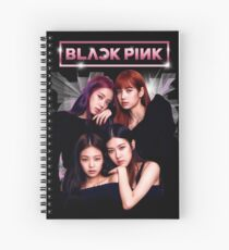 Black Pink Spiral Notebook