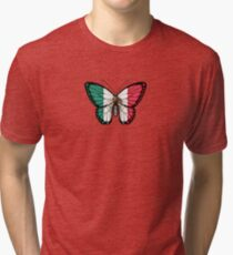 Mexican Flag Butterfly Tri-blend T-Shirt