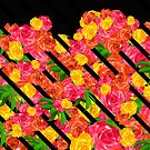 Bold Tropical Spring Floral With Stripes by creativevibe