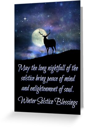 Winter solstice holiday cards with elk and moon night fall winter solstice holiday cards with elk and moon night fall by stephanie laird m4hsunfo
