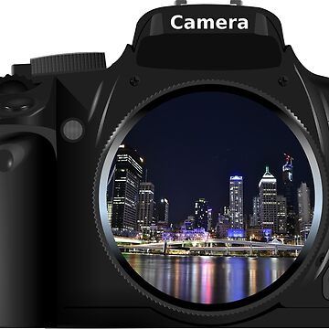 Beautiful Night Scene In Camera Image Design by 198tees