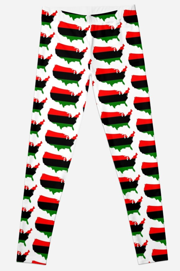 Flag Map Of Africa.Pan African Flag Map Of United States Leggings By Ofmany Redbubble