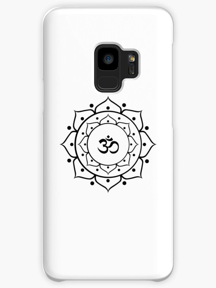 Om Zen Buddha Symbol Lotus Energy Sign Yoga Meditation Cases