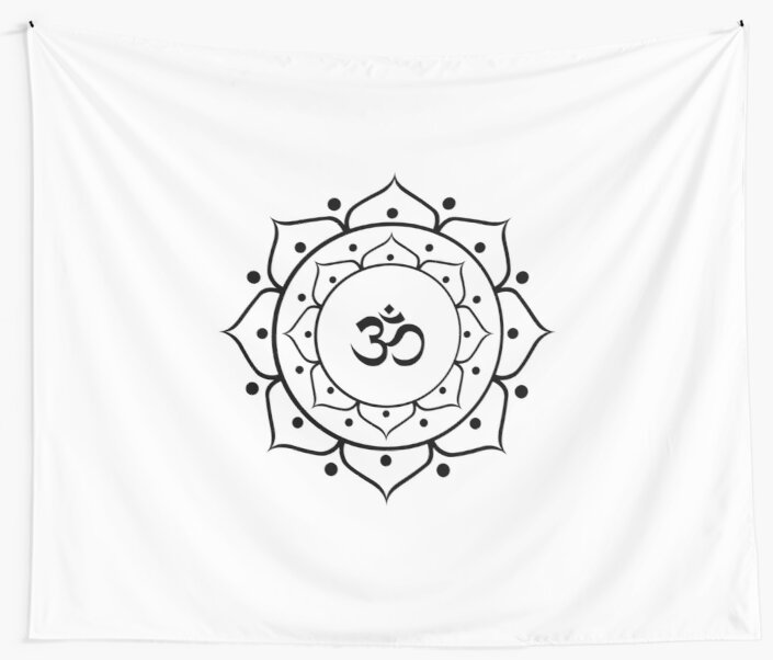 Om Zen Buddha Symbol Lotus Energy Sign Yoga Meditation Wall