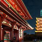 Five-Tier Pagoda at the Sensoji Temple in Tokyo, Japan by Yen Baet