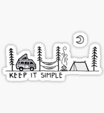 Keep it Simple - Camping Sticker