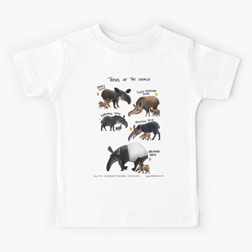 Tapirs of the World Kids T-Shirt