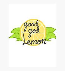 Good God, Lemon Photographic Print