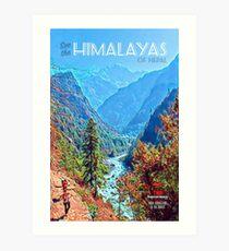 Vintage Himalayas Travel Poster Art Print