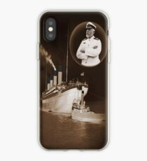 ☝ ☞ EJ SMITH CAPTAIN OF THE TITANIC & TITANIC -CELL PHONE CASES-Titanic leaving Belfast with two guiding tugs ☝ ☞ iPhone Case