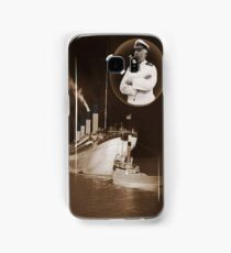 ☝ ☞ EJ SMITH CAPTAIN OF THE TITANIC & TITANIC -CELL PHONE CASES-Titanic leaving Belfast with two guiding tugs ☝ ☞ Samsung Galaxy Case/Skin