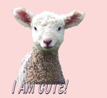 I am Cute - Kids T-Shirt - Lamb - NZ - Southland Baby Tee
