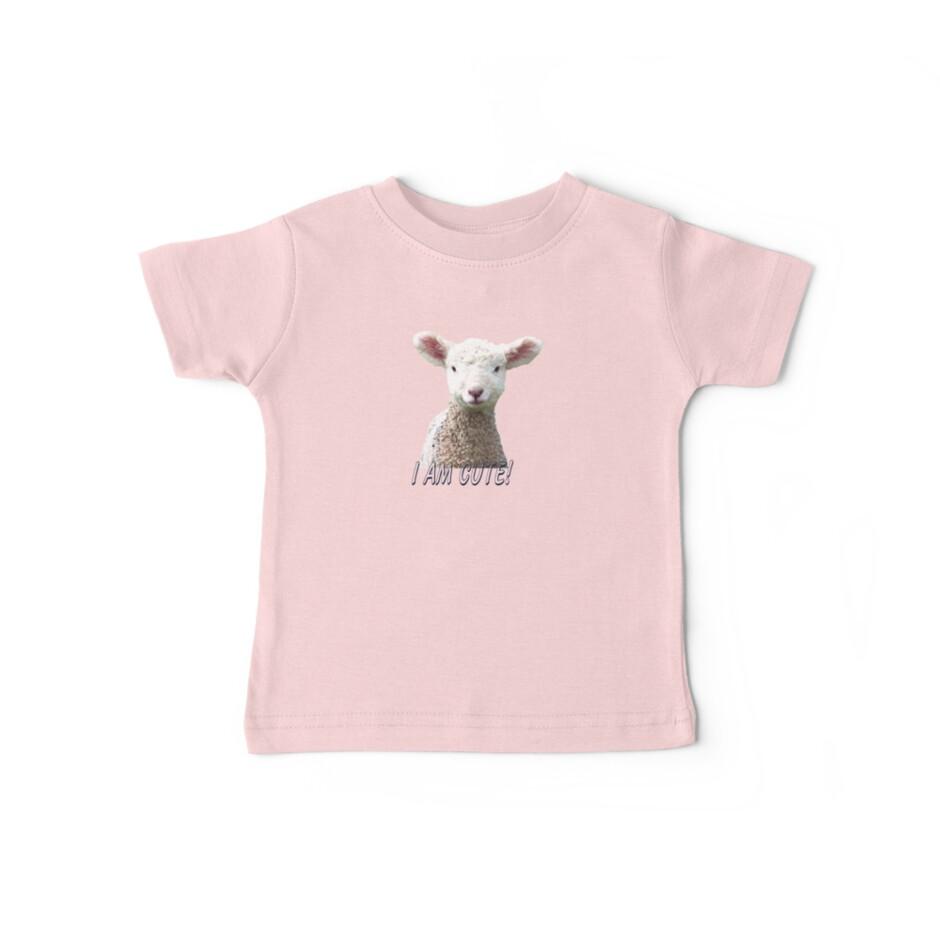 I am Cute - Kids T-Shirt - Lamb - NZ - Southland by AndreaEL